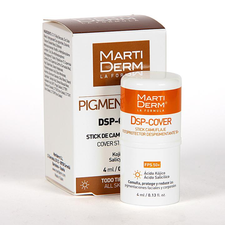Farmacia Jiménez | Martiderm Pigment Zero DSP-Cover Stick FPS 50+ 4 ml