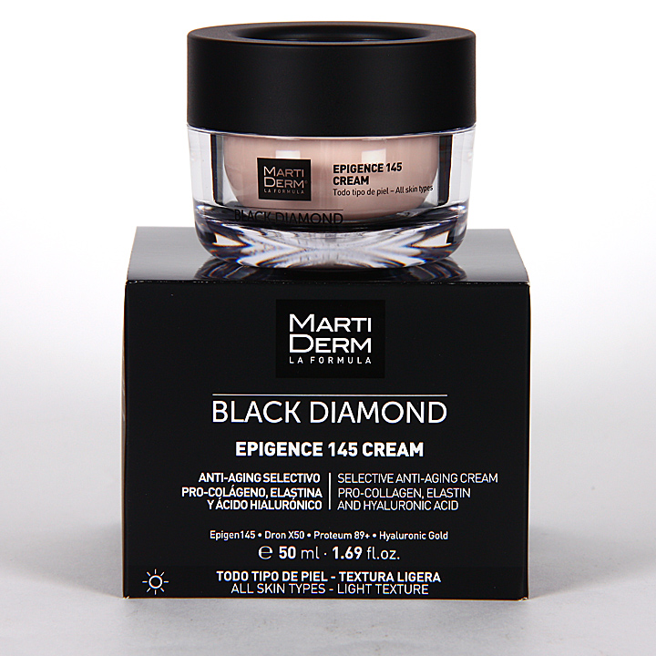Farmacia Jiménez | Martiderm Epigence 145 Black Diamond Crema 50 ml