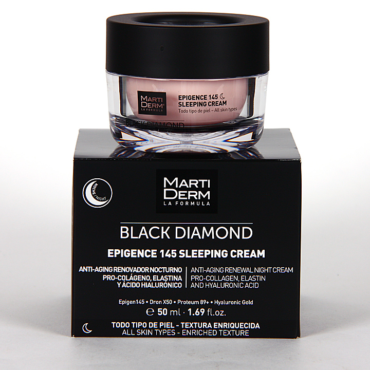 Farmacia Jiménez | Martiderm Epigence 145 Black Diamond Sleeping Crema 50 ml
