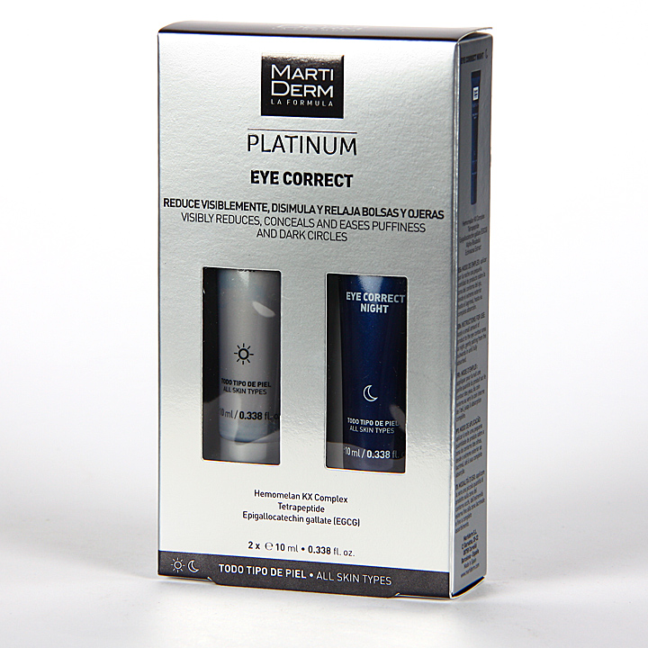 Two Platinum: Martiderm Eye Correct Platinum Contorno De Ojos 2x10ml