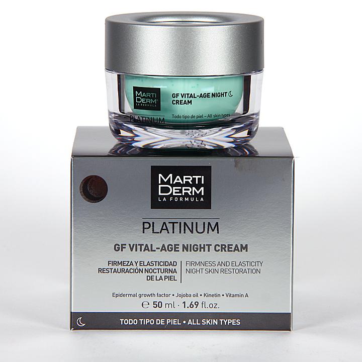 Farmacia Jiménez | Martiderm GF Vital-Age Platinum Night Crema de Noche 50 ml