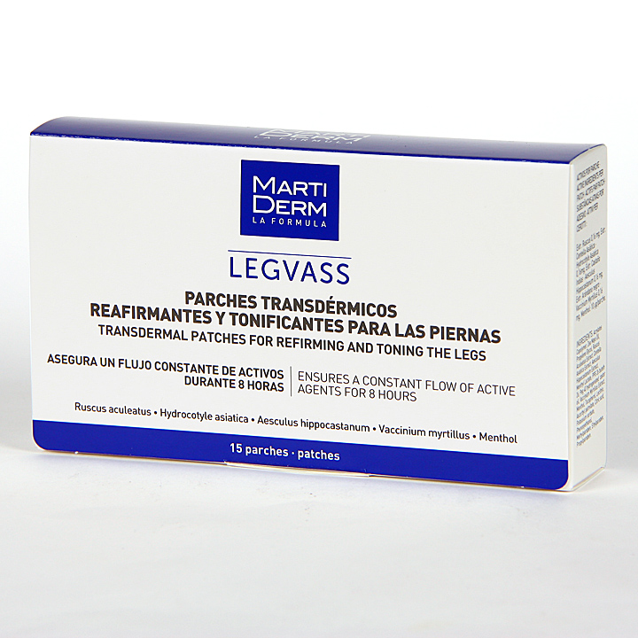 Farmacia Jiménez | Martiderm Legvass Parches transdermicos 15 unidades