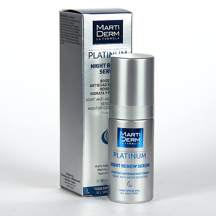 Farmacia Jiménez | Martiderm Night Renew Platinum Serum 30 ml