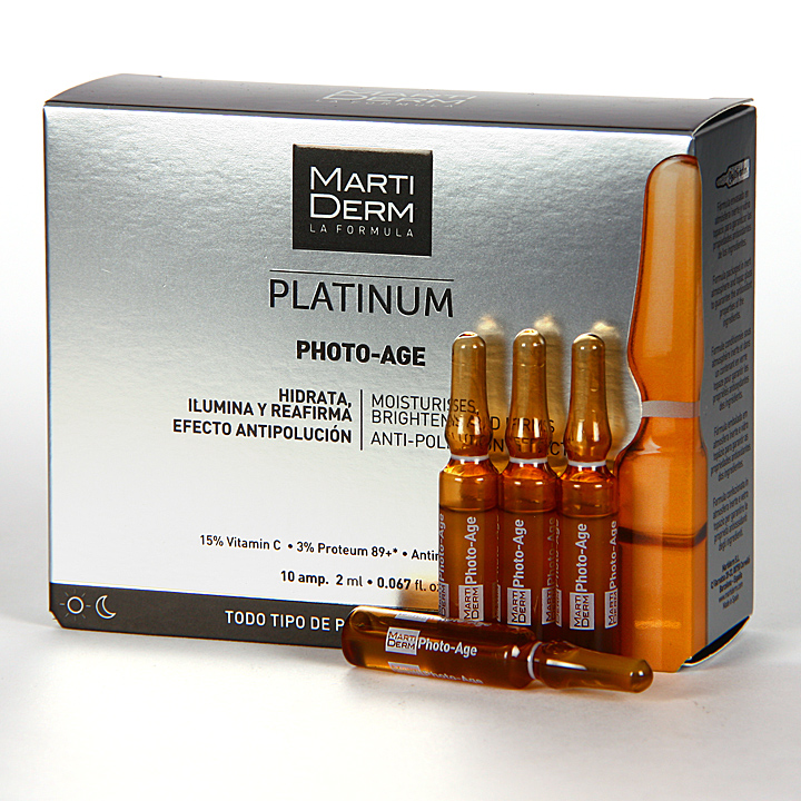 Farmacia Jiménez   Martiderm Photo-Age Platinum 10 ampollas