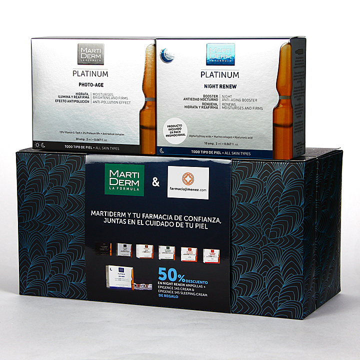 Farmacia Jiménez   Martiderm Photo-Age 30 ampollas + Night Renew 10 ampollas 50% Pack