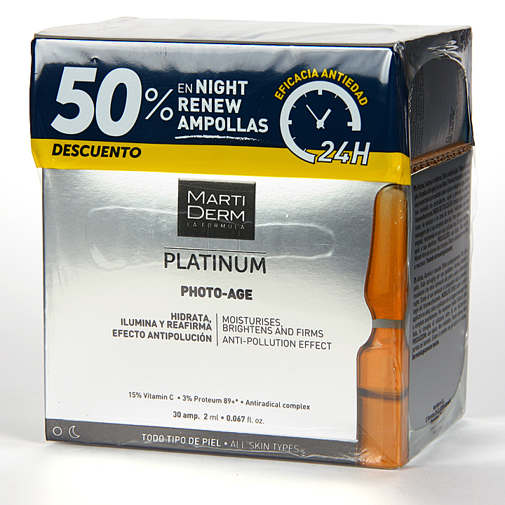 Farmacia Jiménez | Martiderm Photo-Age 30 ampollas + Night Renew 10 ampollas 50% Pack