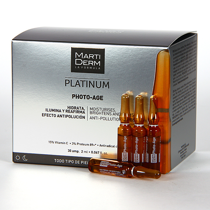 Farmacia Jiménez | Martiderm Photo-Age Platinum 30 ampollas