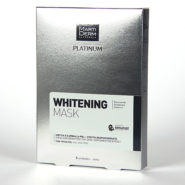 Farmacia Jiménez | Martiderm Platinum Whitening Mask 5 unidades