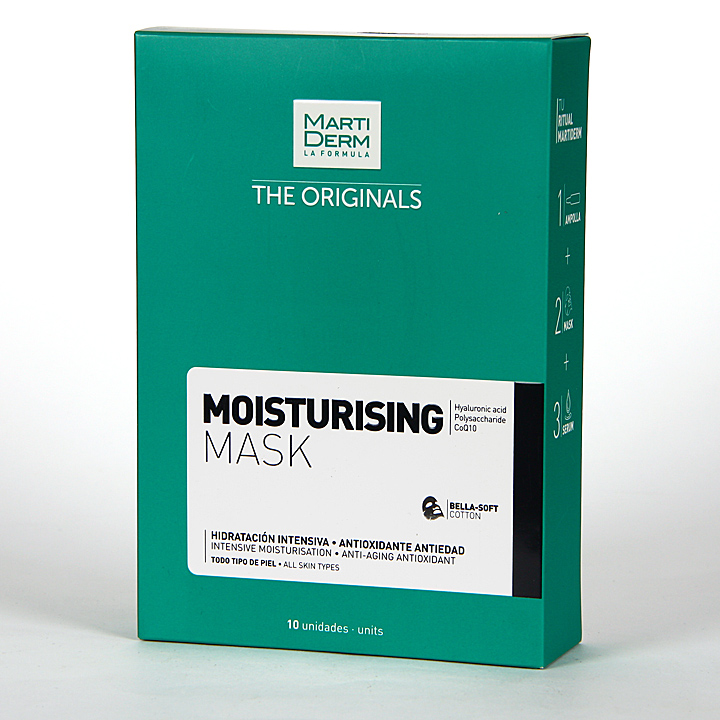 Farmacia Jiménez | Martiderm The Originals Moisturising Hidratante Mask 10 unidades