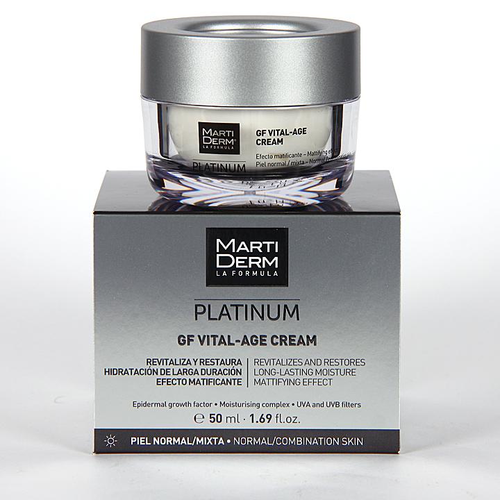 Farmacia Jiménez | Martiderm GF Vital-Age N Platinum Crema piel normal y mixta 50 ml