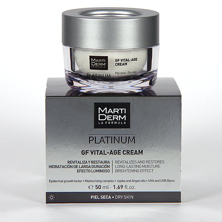 Farmacia Jiménez | Martiderm GF Vital-Age S Platinum Crema piel seca y muy seca 50 ml