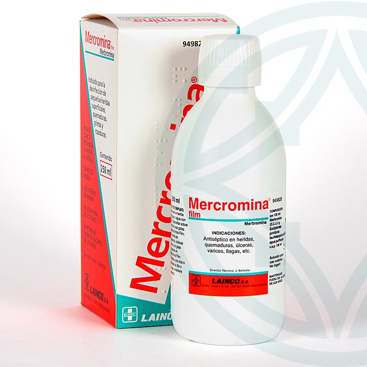 Farmacia Jiménez | Mercromina Film Lainco solución tópica 250 ml