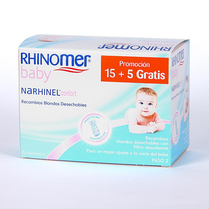 Farmacia Jiménez | Narhinel Confort 15 recambios blandos desechables + 5 gratis