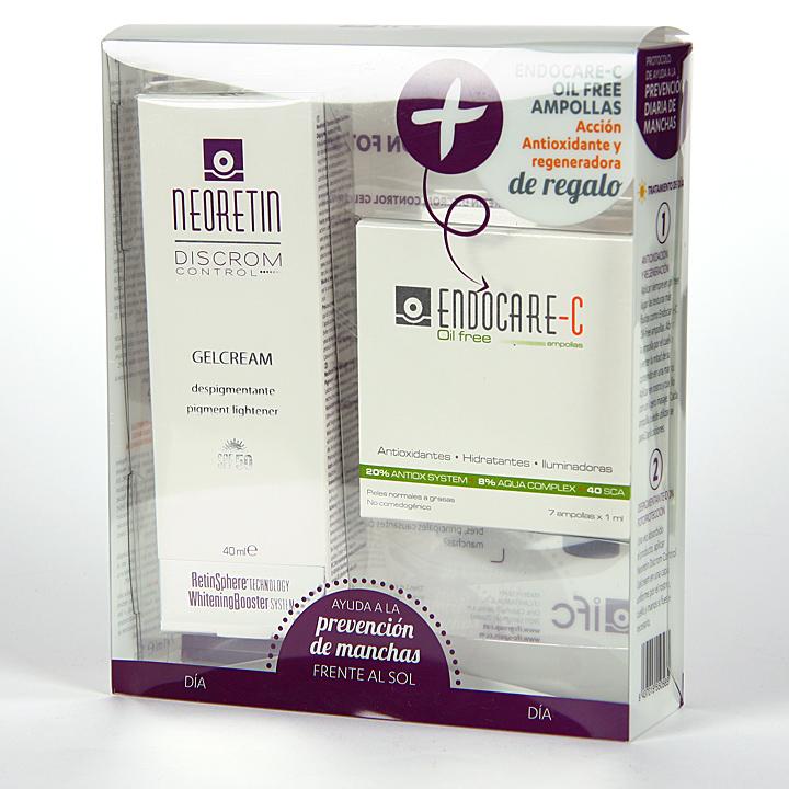 Farmacia Jiménez | Neoretin Gelcrema SPF50 40 ml + Endocare-C oil free ampollas 7x1ml