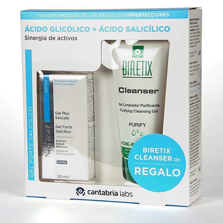 Farmacia Jiménez | NeoStrata Refine Gel Forte Salicílico 100 ml + Regalo Biretix Cleanser Limpiador