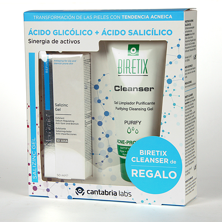 Farmacia Jiménez | NeoStrata Refine Salizinc Gel 50 ml + Regalo Biretix Cleanser Limpiador