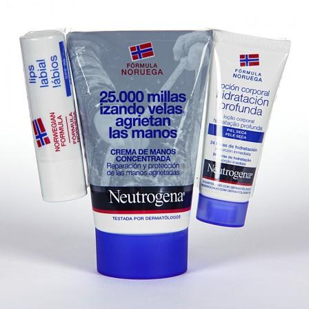 Farmacia Jiménez | Neutrogena Crema de manos pack labios + loción corporal 15 ml gratis
