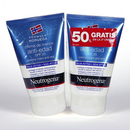 Farmacia Jiménez | Neutrogena Crema de Manos antiedad SPF 25 Duplo 50ml