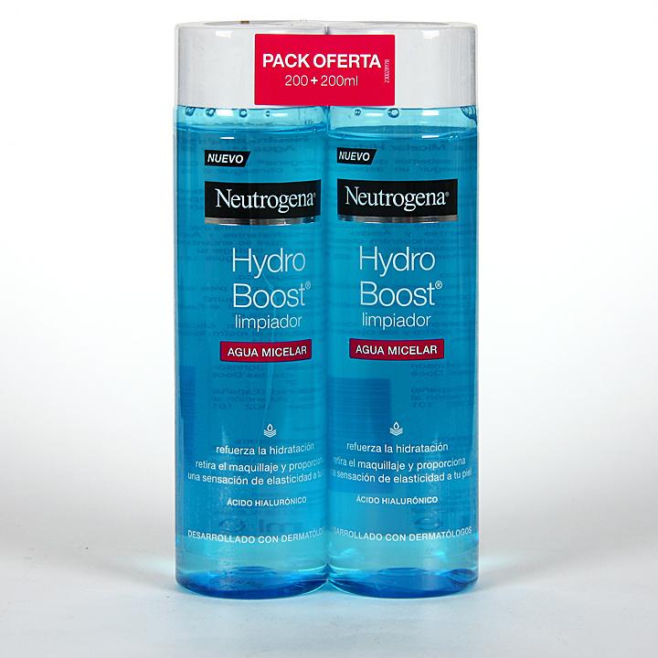 Farmacia Jiménez   Neutrogena Hydro Boost Agua Micelar 200 ml + 200 ml Pack 2×1
