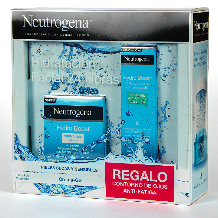 Farmacia Jiménez | Neutrogena Hydro Boost Crema Gel 50 ml + Contorno Ojos Regalo