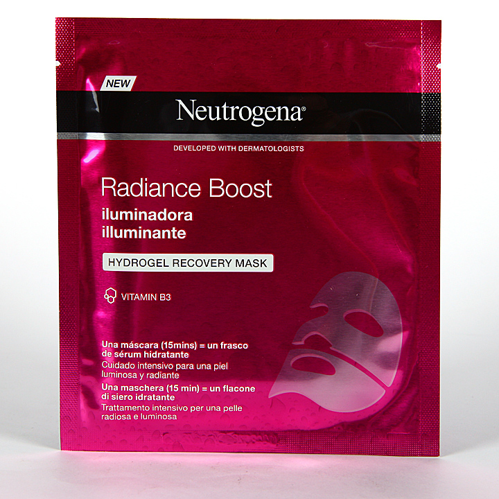 Farmacia Jiménez | Neutrogena Radiance Boost Máscara Facial Iluminadora 30 ml
