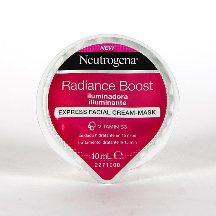Farmacia Jiménez | Neutrogena Radiance Boost Mascarilla Express Iluminadora 10 ml