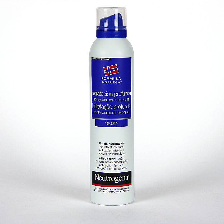 Farmacia Jiménez | Neutrogena Spray Corporal Express Hidratación profunda Piel seca 200 ml