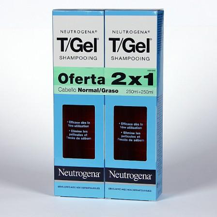 Farmacia Jiménez | Neutrogena T-Gel Champú anticaspa cabello graso oferta 2×1