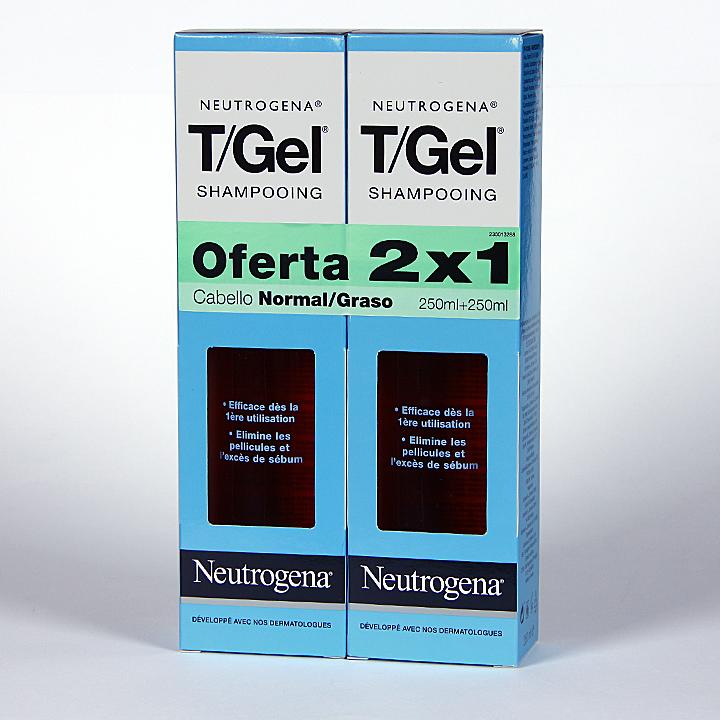Farmacia Jiménez | Neutrogena T-Gel Champú anticaspa cabello graso oferta 2x1