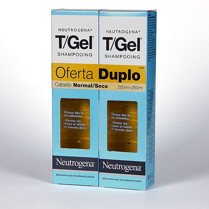 Farmacia Jiménez   Neutrogena T- Gel Champú anticaspa cabello seco oferta 2x1