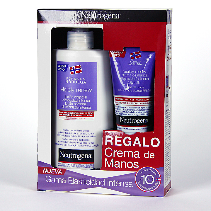 Farmacia Jiménez | Neutrogena Visibly Renew loción corporal + Crema de manos Pack