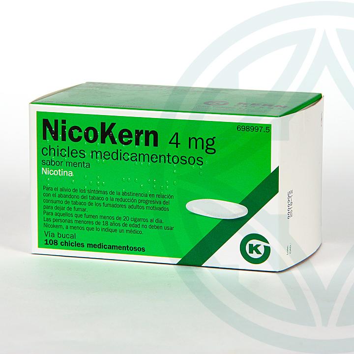 Farmacia Jiménez | Nicokern 4 mg 108 chicles sabor menta