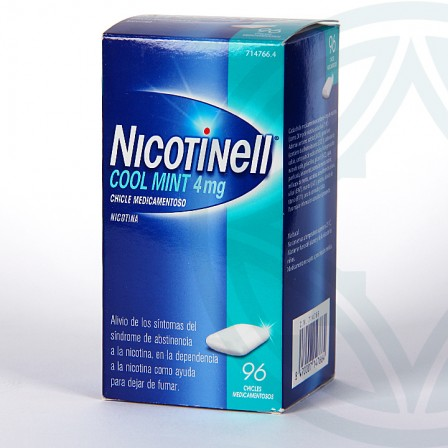 Farmacia Jiménez | Nicotinell Cool Mint 4 mg 96 chicles medicamentosos