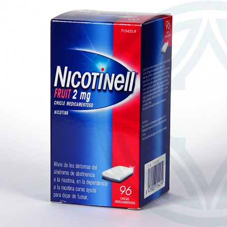 Farmacia Jiménez | Nicotinell Fruit 2 mg 96 chicles medicamentosos