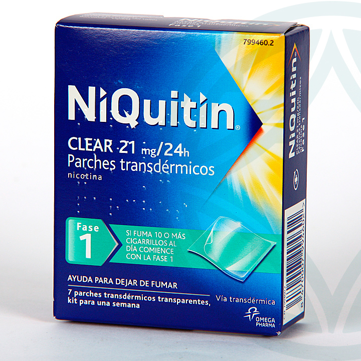 Farmacia Jiménez | Niquitin Clear 21 mg/24h 7 parches transdermicos