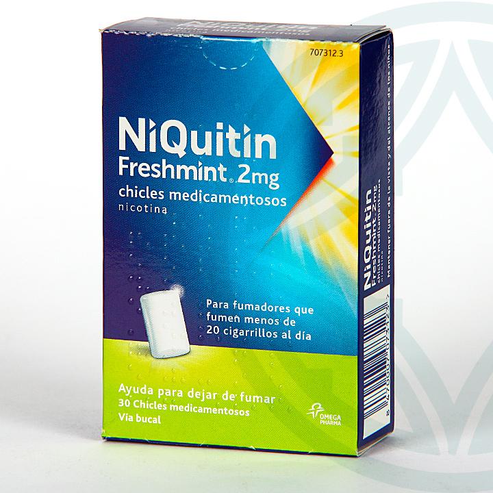 Farmacia Jiménez | Niquitin Freshmint 2 mg 30 chicles