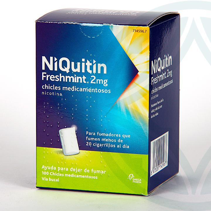 Farmacia Jiménez | Niquitin Freshmint 2 mg 100 chicles