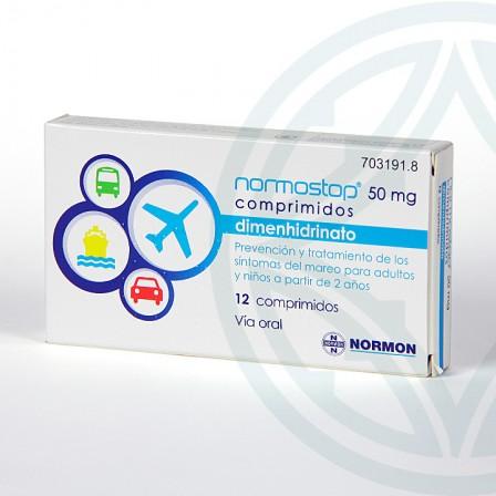 Farmacia Jiménez | Normostop 50 mg 12 comprimidos