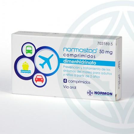 Farmacia Jiménez | Normostop 50 mg 4 comprimidos