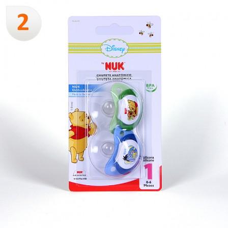 Farmacia Jiménez | Nuk Chupete Silicona Winnie de Pooh T1 2 unidades