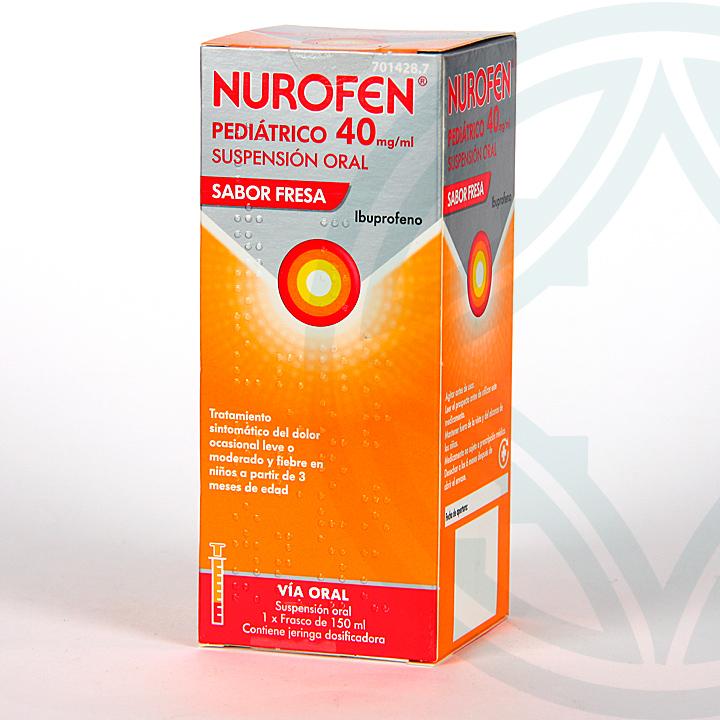 Farmacia Jiménez | Nurofen Pediátrico 40 mg/ml suspensión oral 150 ml fresa