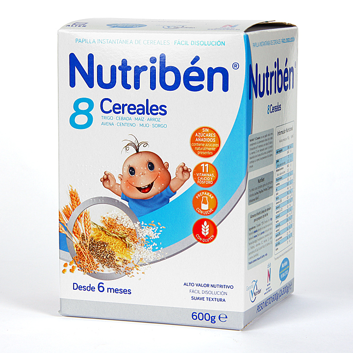 Farmacia Jiménez | Nutribén 8 Cereales 600 g