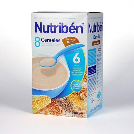 Farmacia Jiménez   Nutribén 8 Cereales Galletas María 600 g