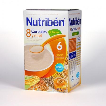 Farmacia Jiménez | Nutribén 8 Cereales y Miel + 4 Frutas 600 g
