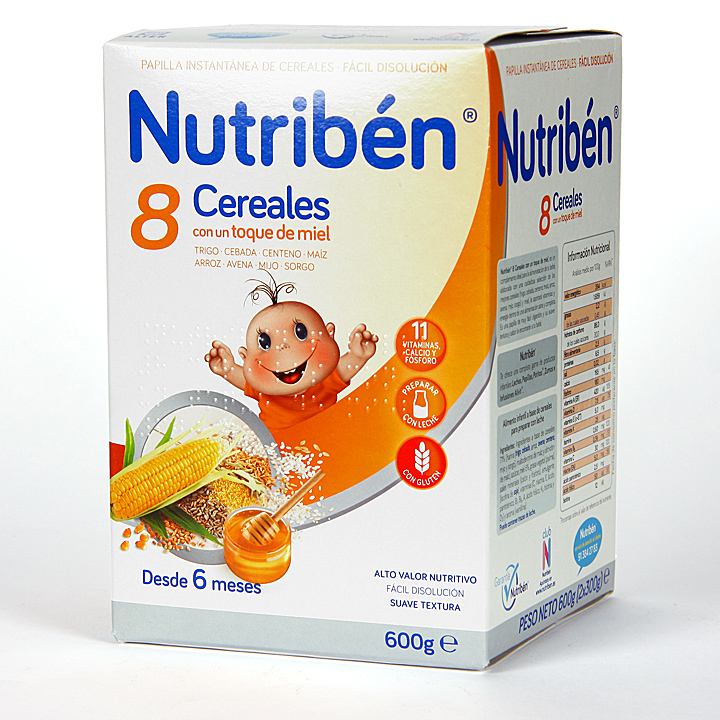 Farmacia Jiménez | Nutriben 8 Cereales y toque de Miel 600 g