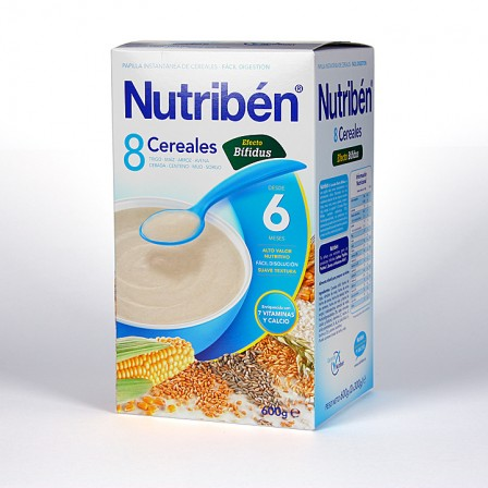 Farmacia Jiménez | Nutribén 8 Cereales y Miel Efecto Bífidus 600 g