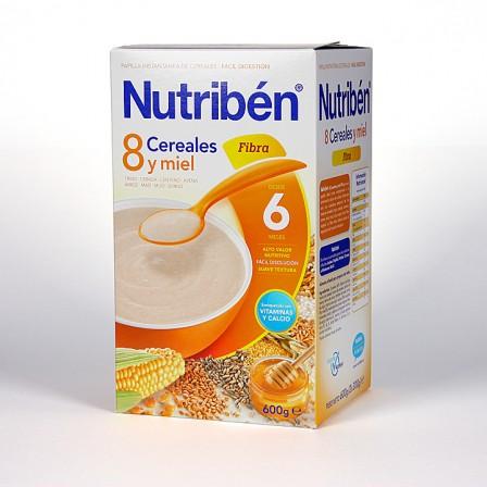 Farmacia Jiménez | Nutriben 8 Cereales y Miel Fibra 600 g