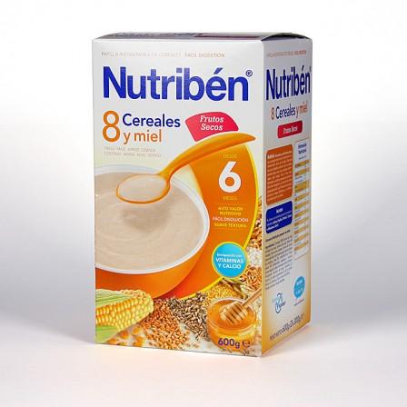 Farmacia Jiménez | Nutriben 8 Cereales y Miel Frutos Secos 600 g