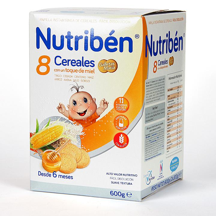 Farmacia Jiménez | Nutriben 8 Cereales y toque de Miel Galletas Maria 600 g