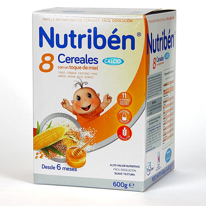 Farmacia Jiménez | Nutribén 8 Cereales, toque de Miel y Calcio 600 g